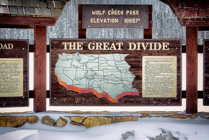 Wolf Creek Pass, Continental Divide