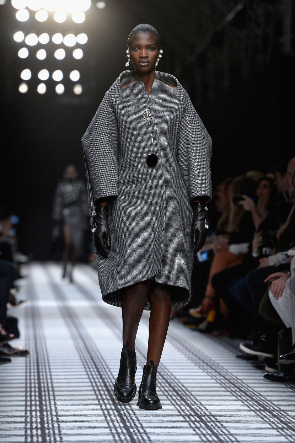 . A model walks the runway during the Balenciaga show as part of the Paris Fashion Week Womenswear Fall/Winter 2015/2016 on March 6, 2015 in Paris, France.  (Photo by Pascal Le Segretain/Getty Images)