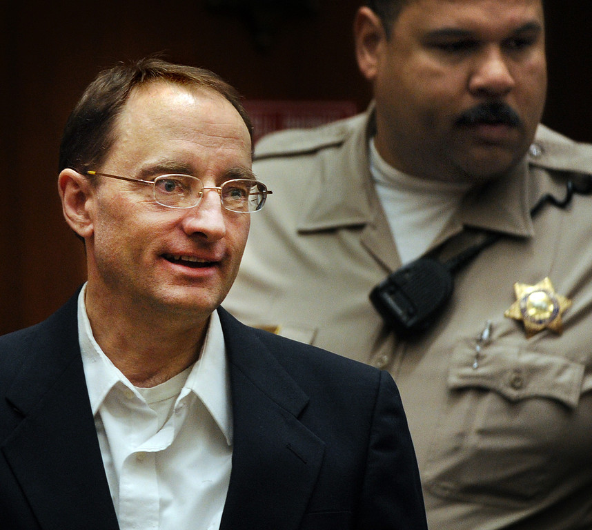 . Christian Karl Gerhartsreiter, enters courtroom in his trial, at Clara Shortridge Foltz Criminal Justice Center in Los Angeles Monday, March 25, 2013.  A prosecutor told jurors Monday he will prove a cold-case murder allegation against the German immigrant who spent years moving through U.S. society under a series of aliases, most notoriously posing as a member of the fabled Rockefeller family. He has pleaded not guilty to the killing of John Sohus, 27, who disappeared with his wife, Linda, in 1985 while Gerhartsreiter, using an alias was a guest cottage tenant at the home of Sohus\' mother, where the couple lived.(Photo by Walter Mancini, SGVN)