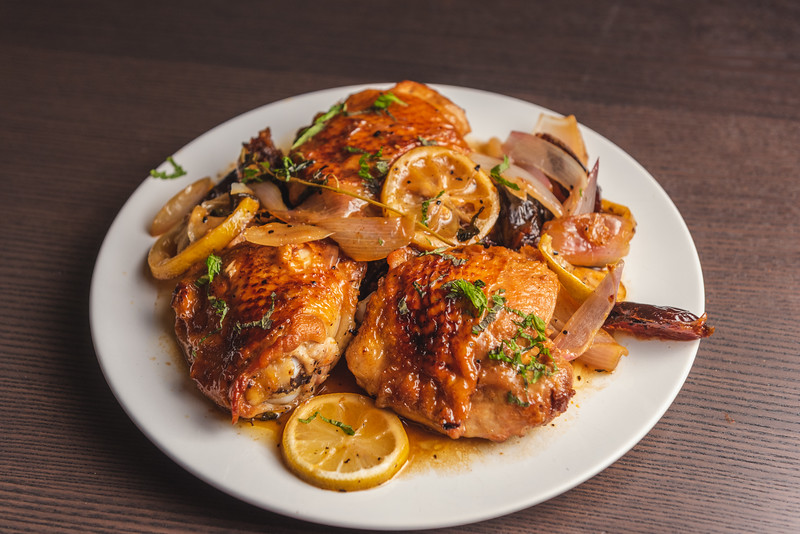 chicken with dates and lemon