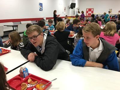 Christmas visit to Westside Elementary