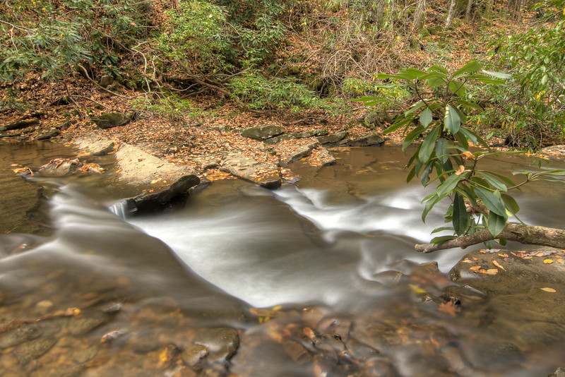 A shallow section of the creek along the Little Stoney National Recreation Trail in Dungannon, VA on Saturday, October 25, 2014. Copyright 2014 Jason Barnette