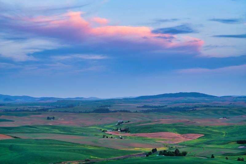 Dusk Sky Over Palouse