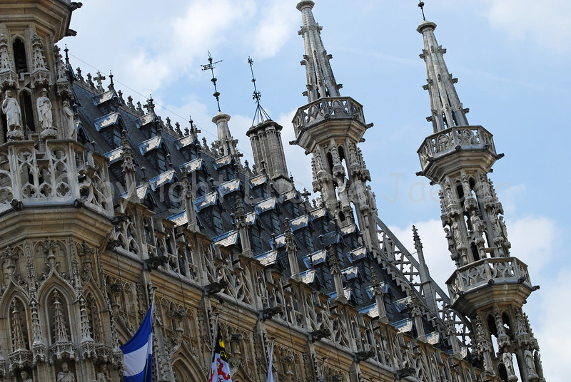 The Town Hall in Louvain (Leuven), Belgium.