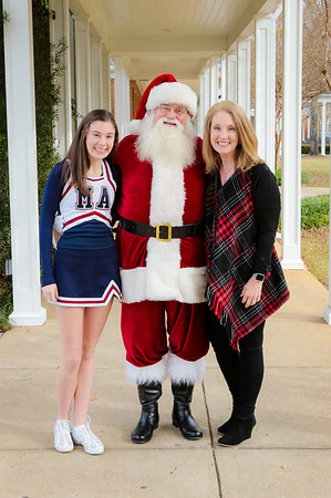Santa @ Hospital with MA Cheer