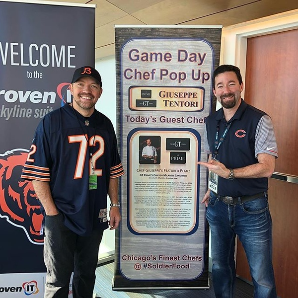 Pregame #tailgate with Chicago's No. 1 #bears fan and chef @giuseppetentori #GoBears