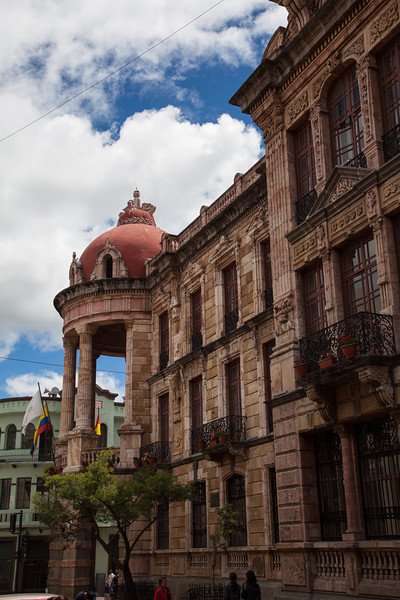 I loved the colors and architecture of the Cuenca municipal building.