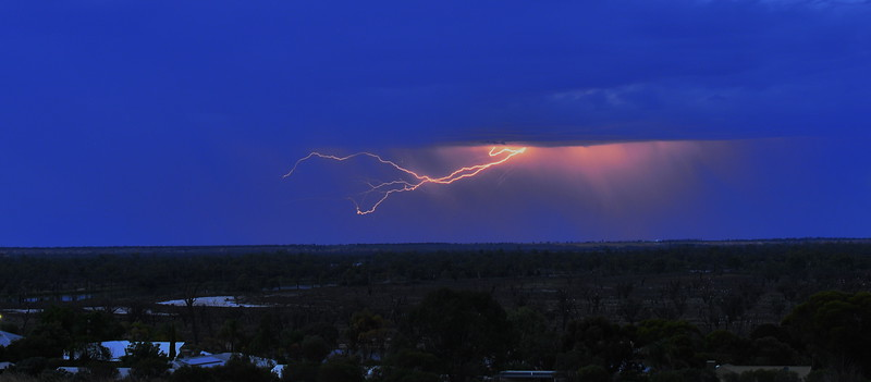 Early morning lightning