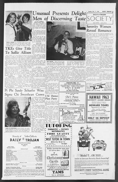 Daily Trojan, Vol. 54, No. 51, December 11, 1962