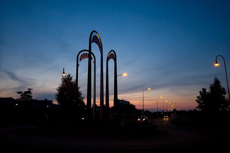 Roundabout at Sunset