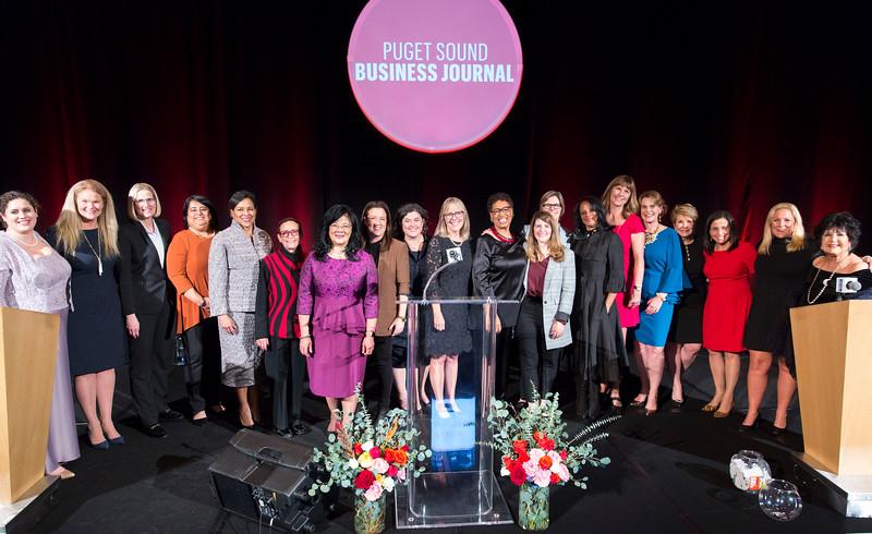 The Puget Sound Business Journal's Women of Influence Awards at the Hyatt Regency in Bellevue