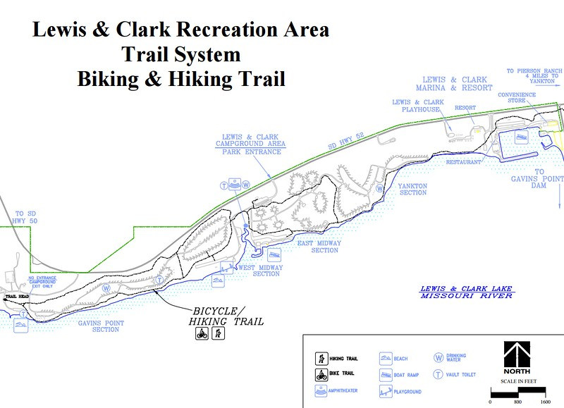 Lewis and Clark Recreation Area (Trail Map)