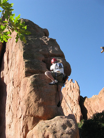 Rick leads N Ridge of Montezuma's Tower, 9/8/09