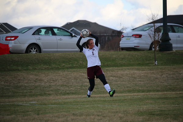 Western Christian girls' soccer at Spirit Lake 4-18-19
