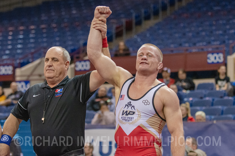 87 kg: Jonathan Anderson (Army WCAP / West Point) dec. Chandler Rogers (Titan Mercury Wrestling Club), 5-2