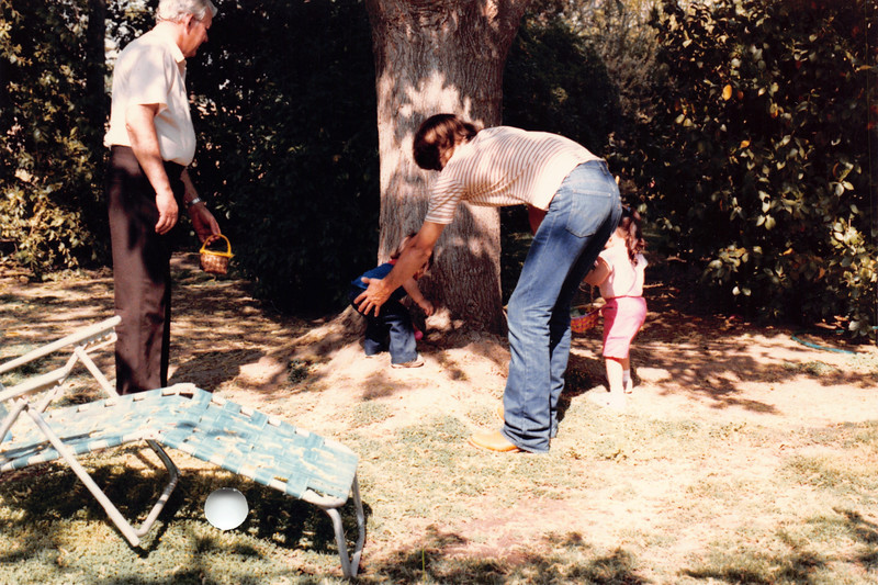 Ruben, David, Josh, Alaya. Easter 1985