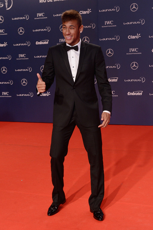 . Footballer Neymar attends the 2013 Laureus World Sports Awards at the Theatro Municipal Do Rio de Janeiro on March 11, 2013 in Rio de Janeiro, Brazil.  (Photo by Buda Mendes/Getty Images For Laureus)