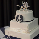 Nautical Themed with Starfish Topper. Perfect for your Cape Cod Wedding! - The Casual Gourmet, Cape Cod Wedding Caterer