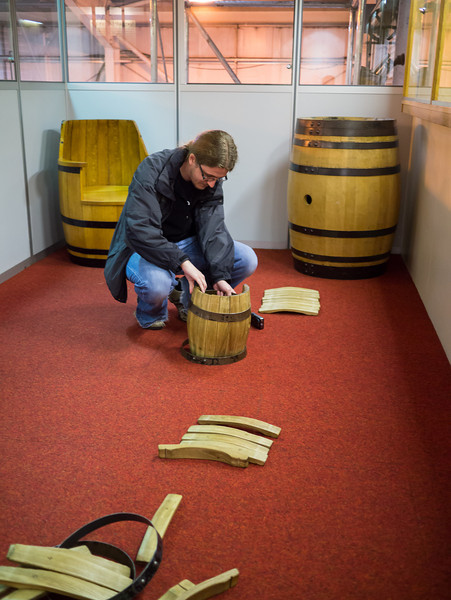 Olly making a whisky barrel