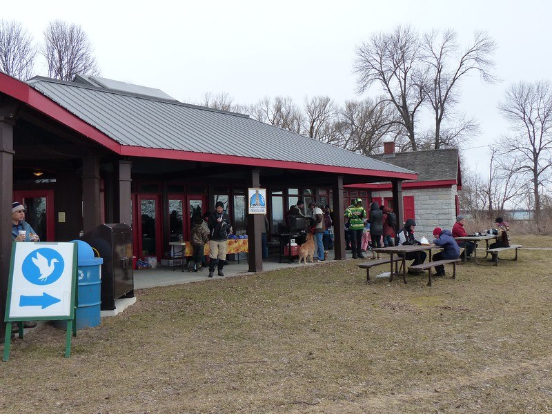 Volunteers with the Friends of Presqu'ile were selling tasty lunches from the Barbeque - great idea for raising funds!
