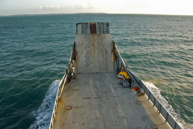 Ferry Heading Home, Fraser Island - Queensland, Australia