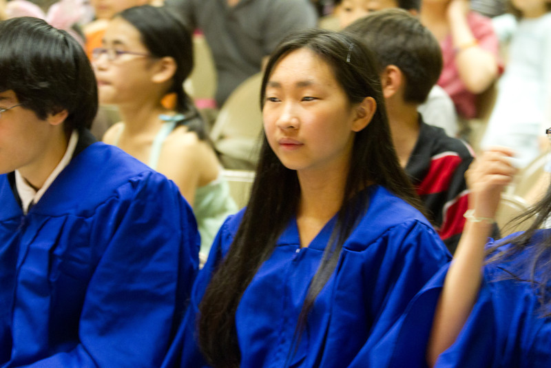Graduate's reaction to performance: KB and 1A – 熊貓 (Panda)  Chinese School of Delaware 2011 Commencement Ceremony, 6/5/2011