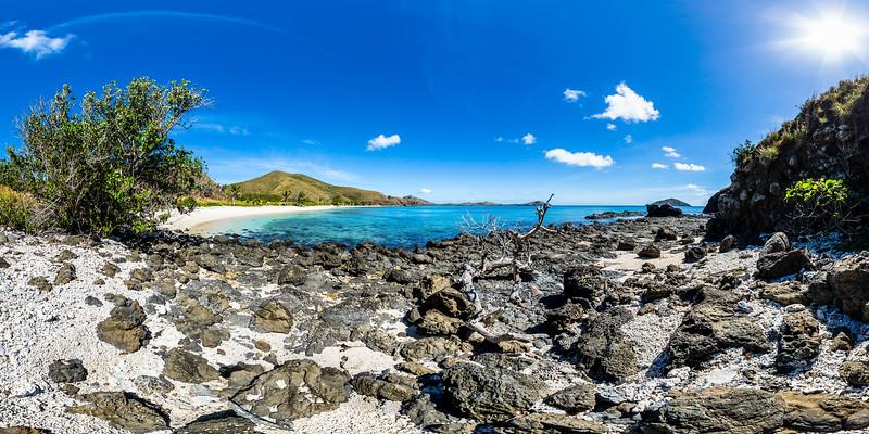 Rocks and Coral at Paradise Beach - Yasawa - Fiji Islands