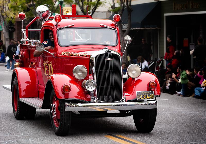 Fire Truck, Bunnies and Bonnets Parade, Campbell, California, 2010