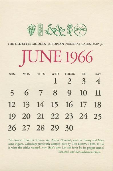 June, 1966, Herity Press