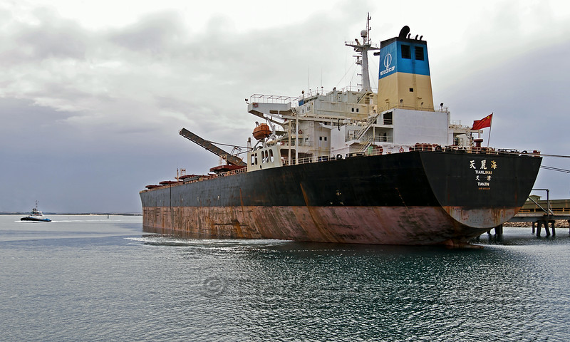 Capesize Bulk Carrier 'Tianlihai' in Esperance Harbour
