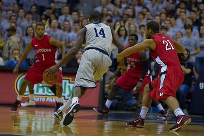 Georgetown Hoyas vs Rutgers basketball (1-21-12)