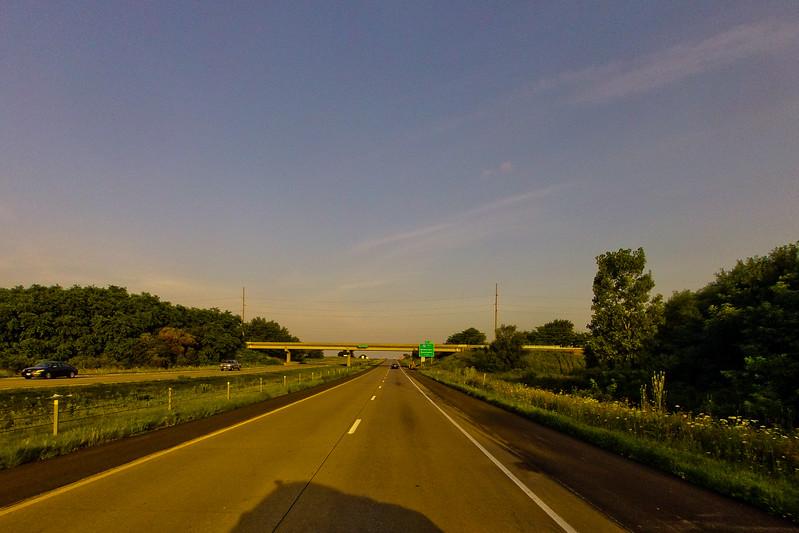 Sundown on the Road
