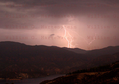 Lightning over Castiac Lake, CA. 08-14-2005