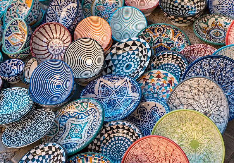Colourful Plates, Morocco