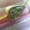 1.91ct Rustic Rose Cut Diamond Bangle in Yellow Gold 7