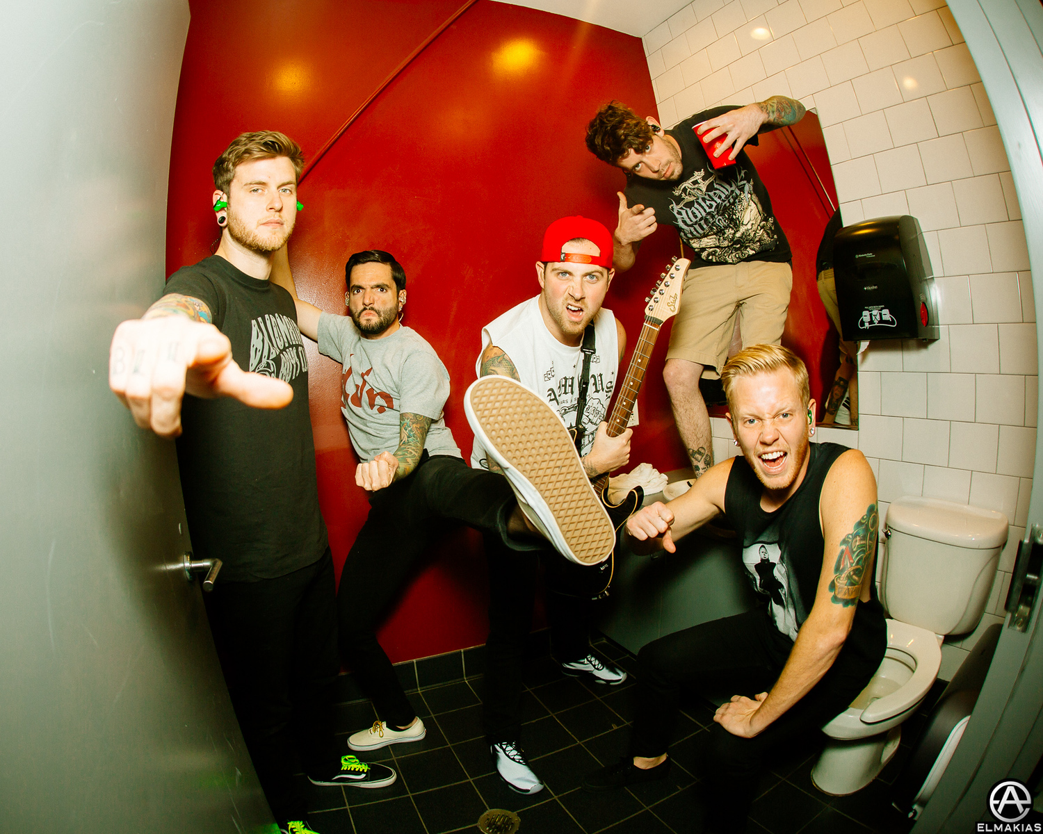 Bathroom party with A Day To Remember - Parks and Devastation Tour by Adam Elmakias