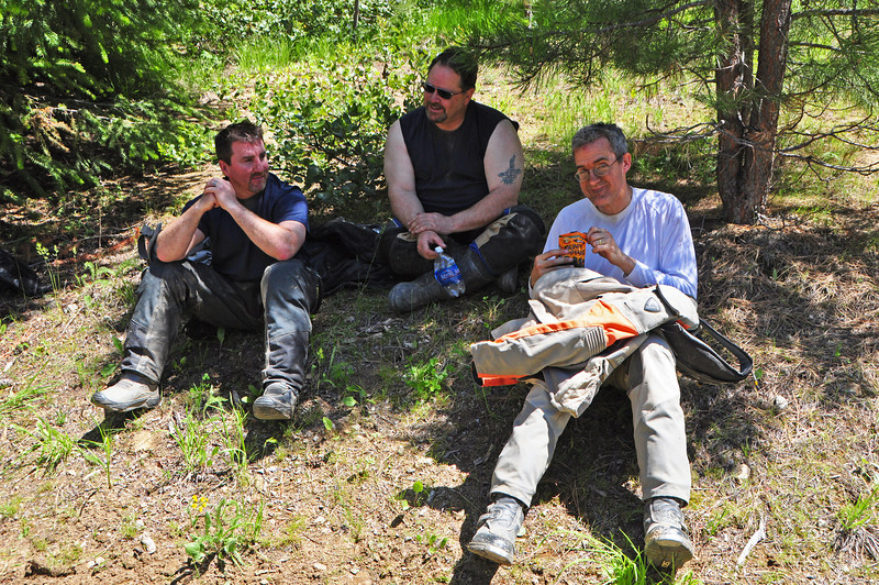 Dan, Rob and Gary take a rest.