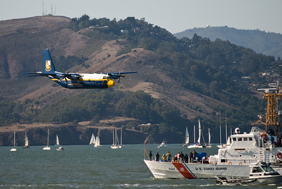 Fat Albert announces the arrival of the Blue Angels.