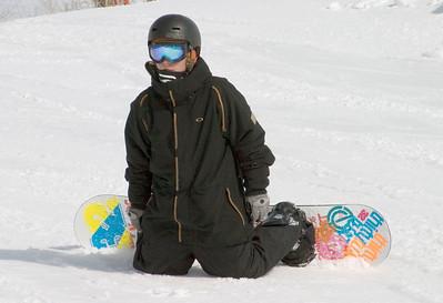 Chad Snowboarding
