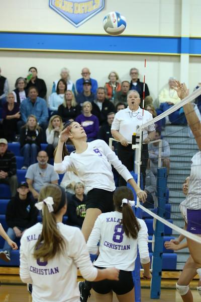 Volleyball Playoffs - Regional Championship vs. Bronson - KCHS - 11/10/16