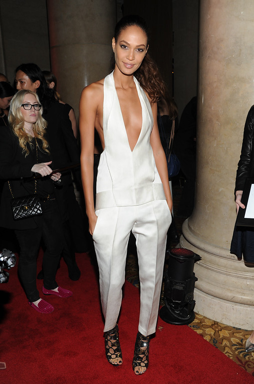 ". Model Joan Smalls attends the Fashion Group International\'s 30th annual ""Night Of Stars\"" awards gala at Cipriani\'s Wall Street on Tuesday, Oct. 22, 2013, in New York. (Photo by Evan Agostini/Invision/AP)"