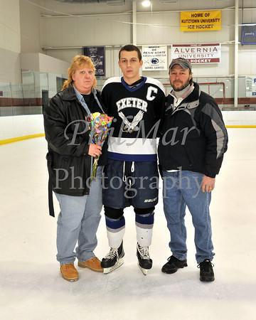 Exeter VS Mifflin Ice Hockey Senior Night 2012 - 2013