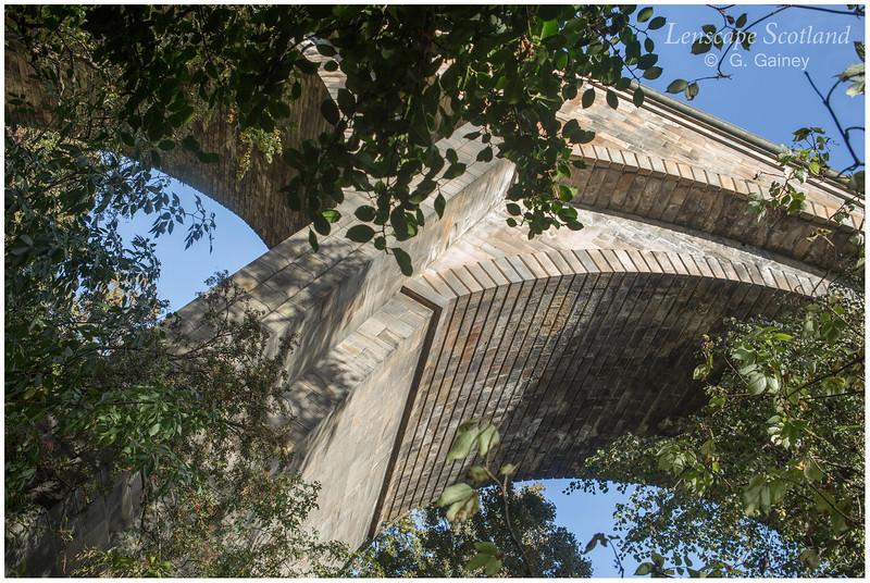 Dean Bridge from Dean Gardens, Edinburgh