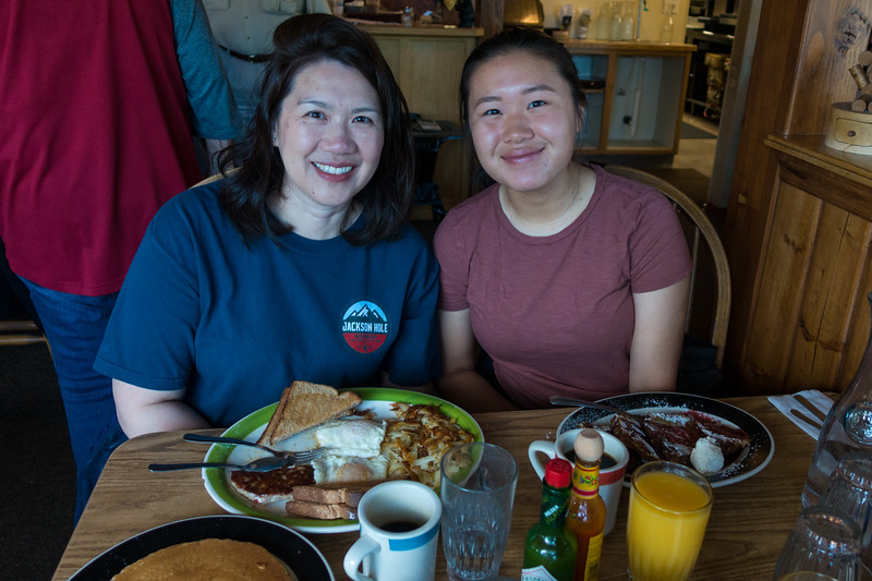 Jul 29 Breakfast at Running Bear Pancake House in West Yellowstone
