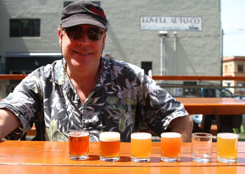 Steve loves his beer tasters
