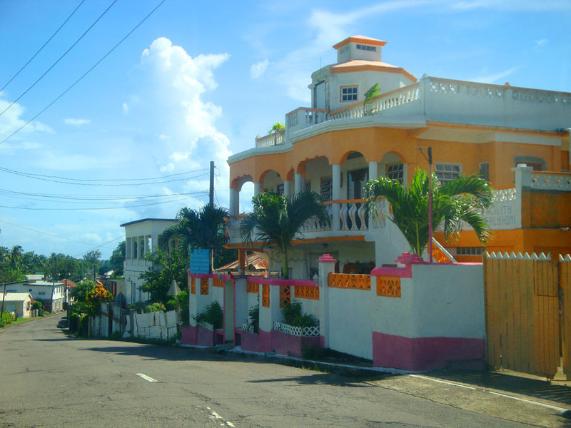 The island has one main circular road that some of our faculty cycle around in about 2 hrs. This is one of the townships along the route.