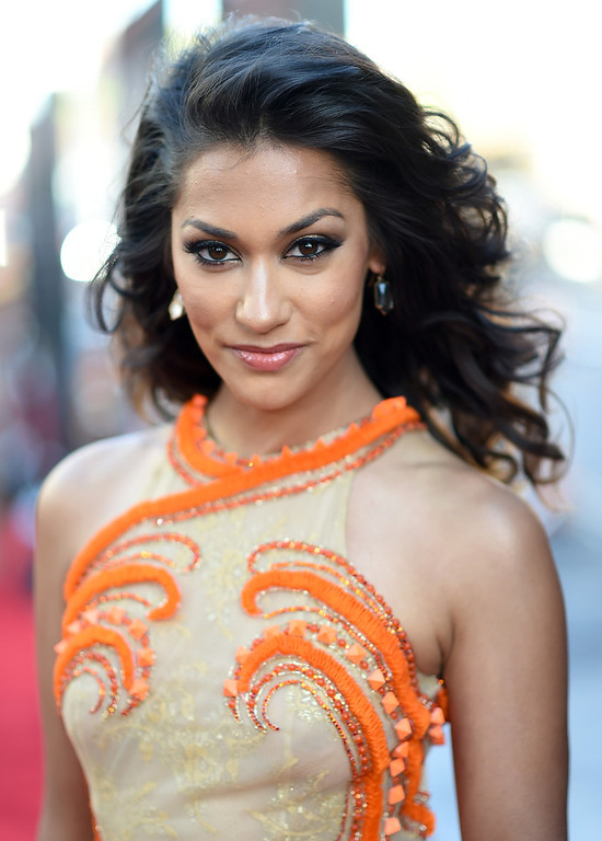 """. Actress Janina Gavankar attends Premiere Of HBO\'s \""""True Blood\"""" Season 7 And Final Season at TCL Chinese Theatre on June 17, 2014 in Hollywood, California.  (Photo by Michael Buckner/Getty Images)"""