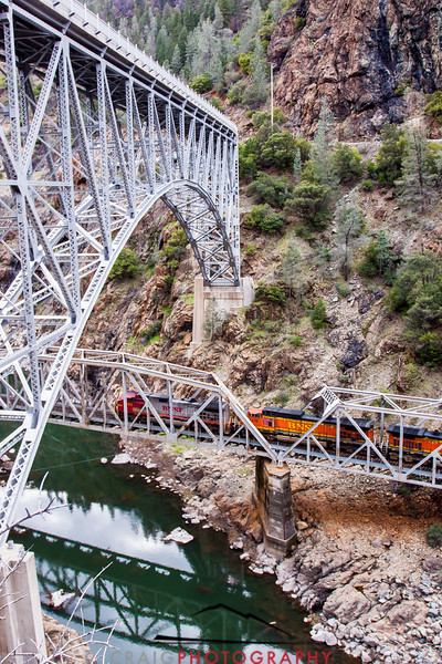 Pulga Crossing and Railroad Bridge, Feather River Canyon, CA #2