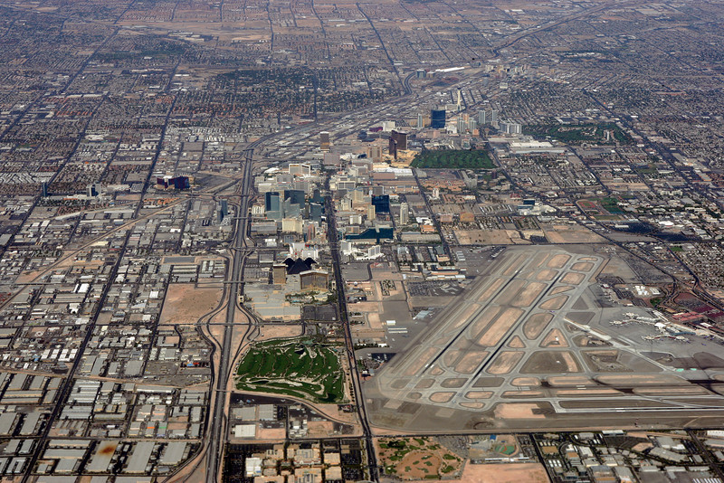 The Strip from up above.