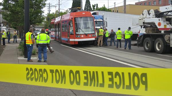 Streetcar Hit by 18-Wheeler